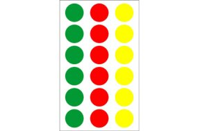 COLORED LABELS D19mm 3 COLOURS